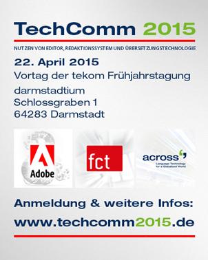 TechComm 2015 – das Expertenforum mit Adobe, FCT und Across