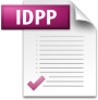 Adobe InDesign: Symbol (Icon) einer Adobe InDesign Preflight-Profile-Datei (Dateiendung .idpp)