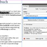 """Das Bild zeigt das Adobe InDesign Panel """"Preflight"""" mit einer ausgewählten Fehlermeldung."""