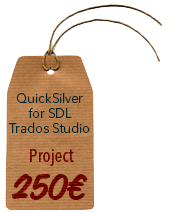 BroadVision QuickSilver Filter for SDL Trados Studio (Project License)