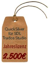 BroadVision QuickSilver Filter für SDL Trados Studio (Jahreslizenz)