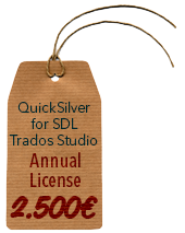 BroadVision QuickSilver Filter for SDL Trados Studio (Annual License)